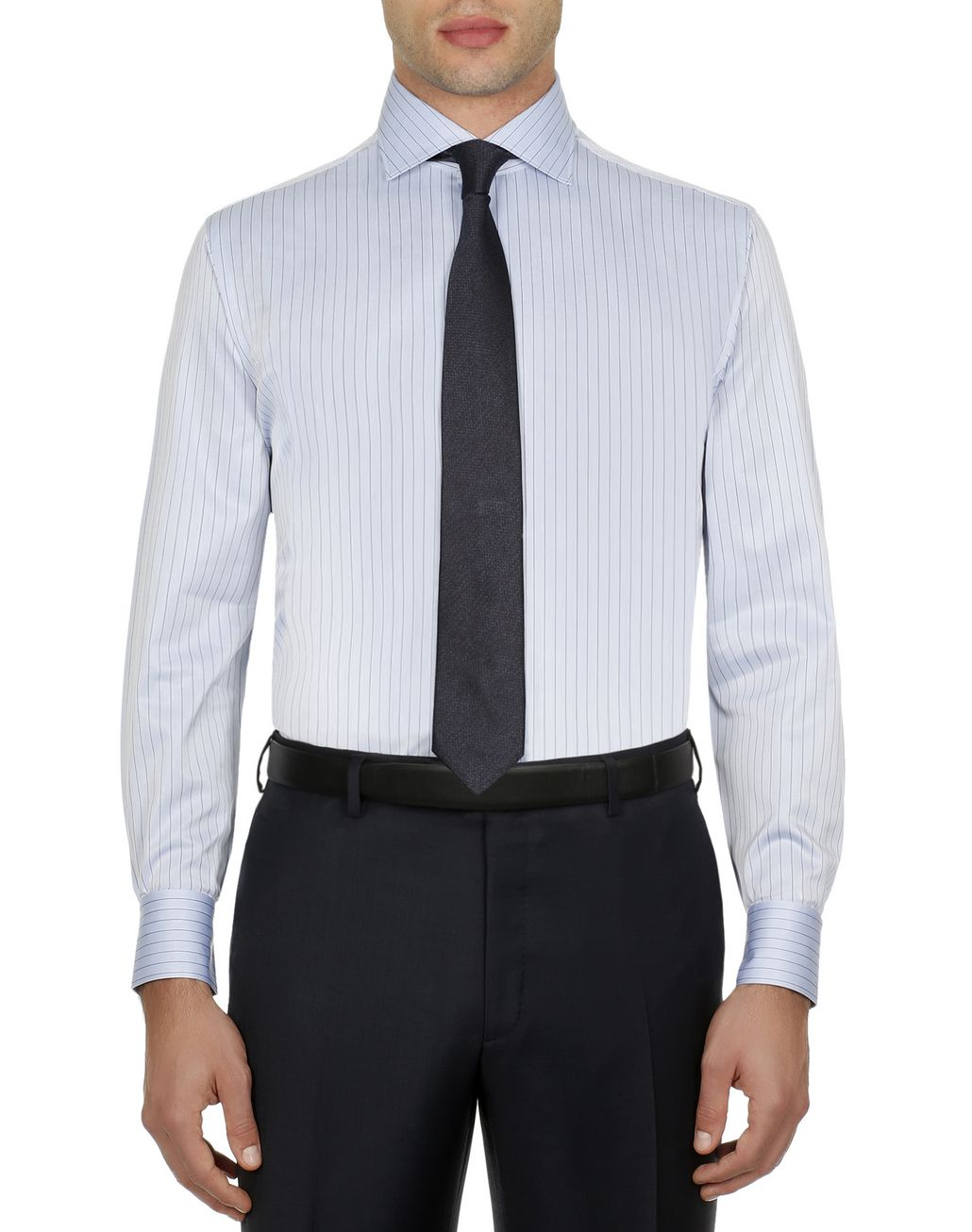 BRIONI Bluette Striped Formal Shirt Formal shirt Man r