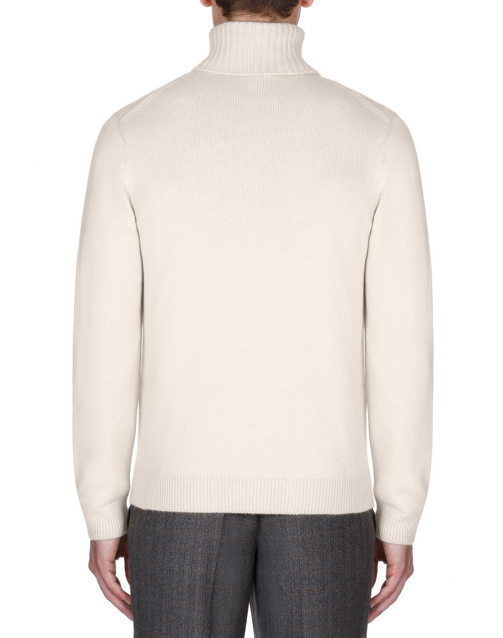 BRIONI White Turtleneck Sweater Knitwear Man d