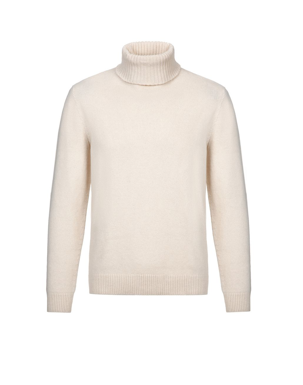 BRIONI White Turtleneck Sweater Knitwear Man f
