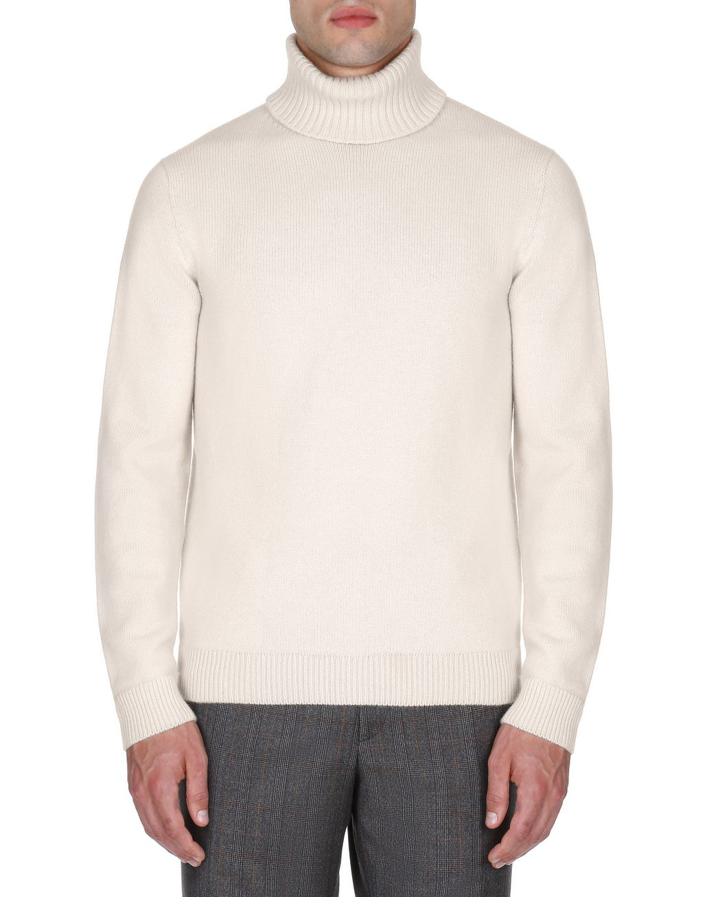 BRIONI White Turtleneck Sweater Knitwear Man r
