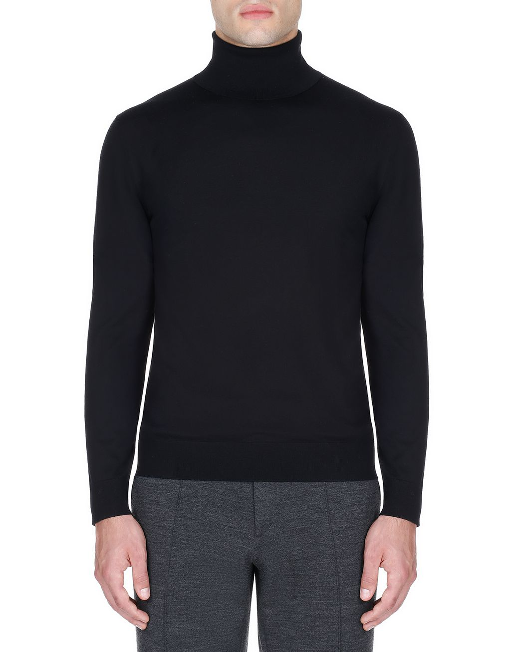 BRIONI Black Turtleneck Sweater Knitwear Man r