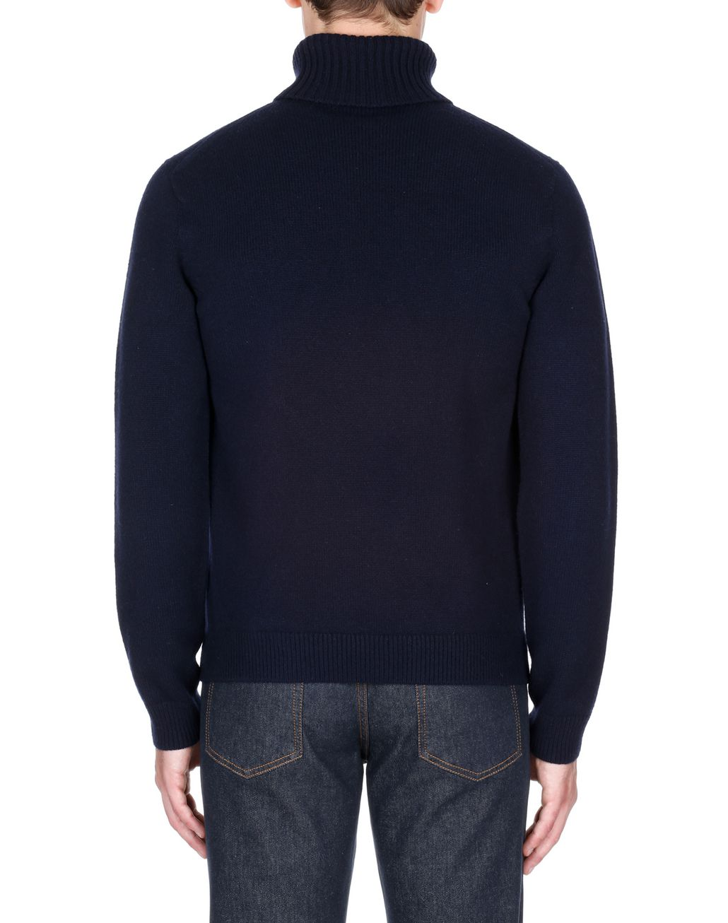 BRIONI Navy Blue Turtleneck Sweater Knitwear Man d