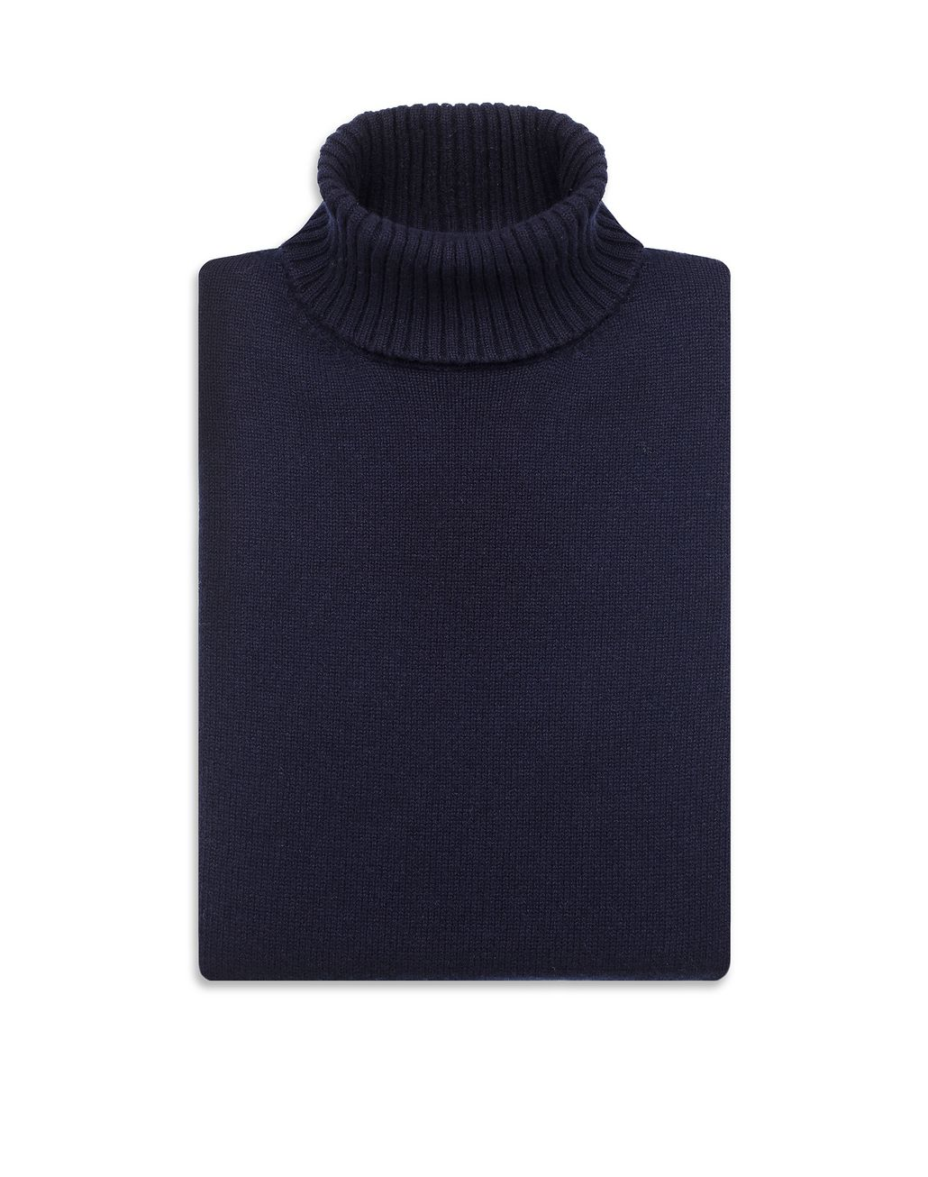 BRIONI Navy Blue Turtleneck Sweater Knitwear Man e