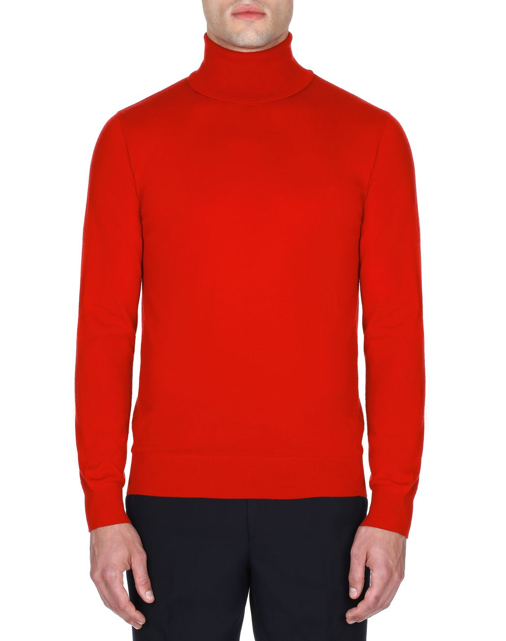 BRIONI Red Turtleneck Sweater Knitwear Man r