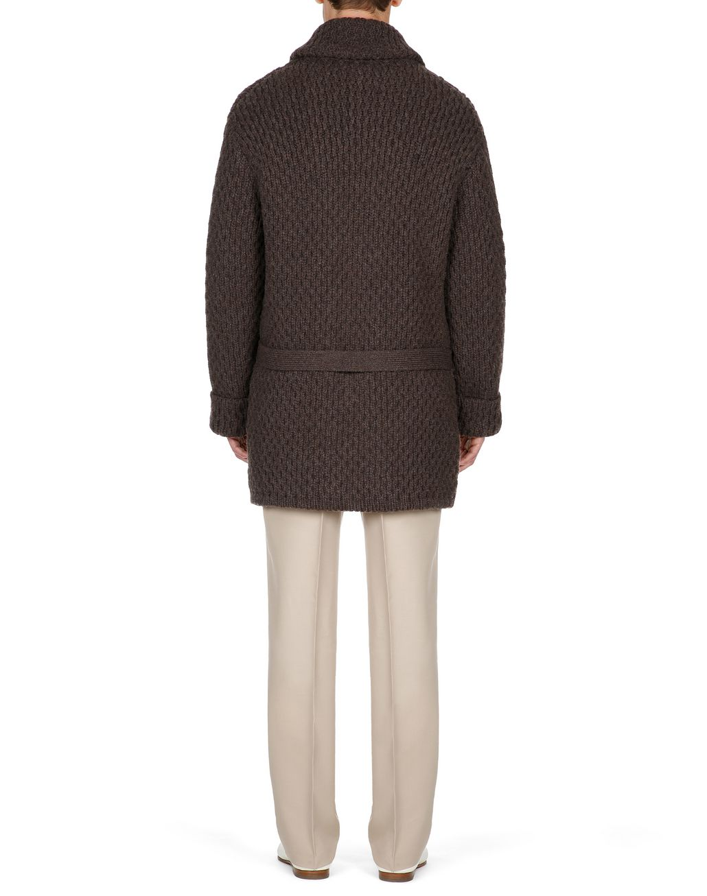 BRIONI Brown Knitwear Jacket Knitwear Man d