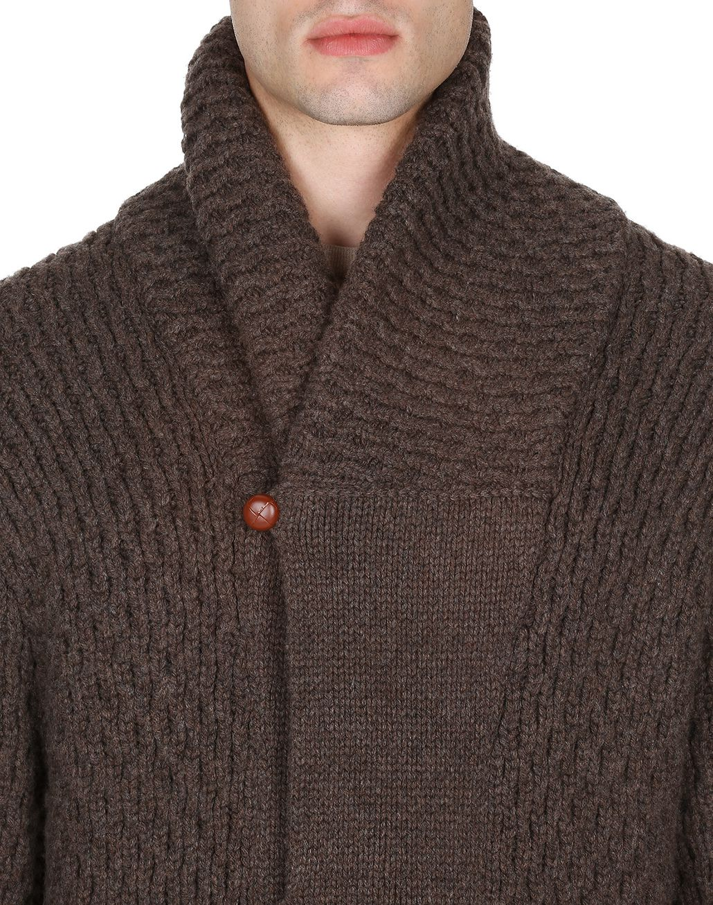 BRIONI Brown Knitwear Jacket Knitwear Man e