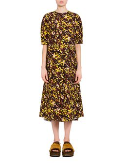 Marni Poplin Marken print dress  Woman
