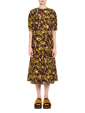 Marni Poplin dress Marken print Woman