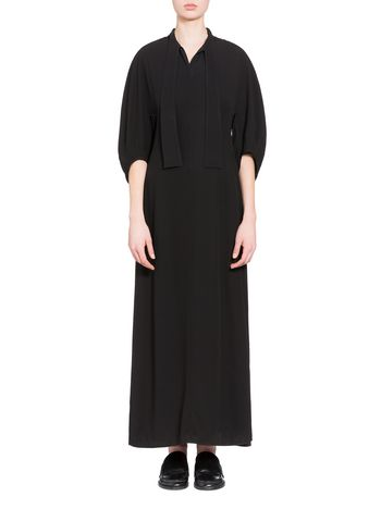 Marni Dress in crepe-back satin with bow Woman