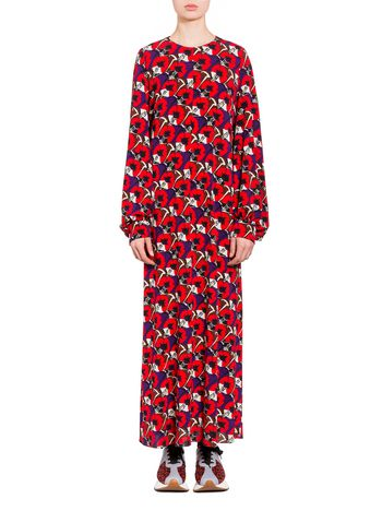 Marni Crepe dress Deco Flower print Woman
