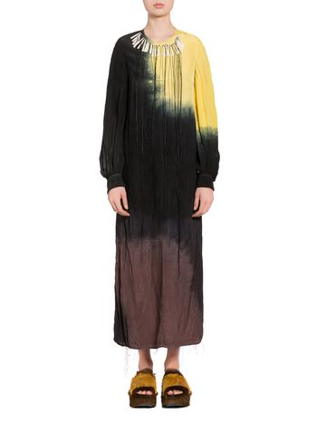 Marni Tie-dye viscose dressd resin applications on the neck Woman