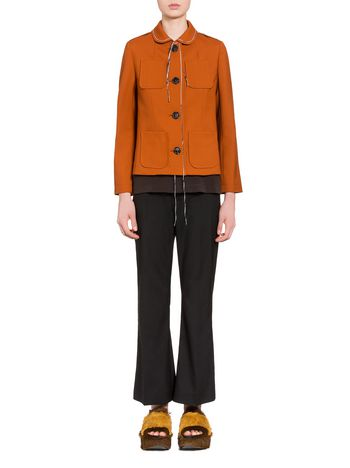 Marni Jacket in tropical wool with hanging threads Woman
