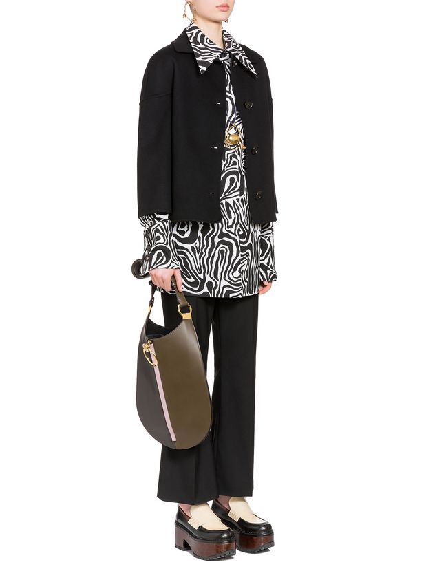 Marni Jacket in double knit wool and cashmere Woman - 4