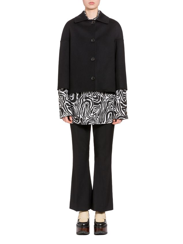 Marni Jacket in double knit wool and cashmere Woman - 1