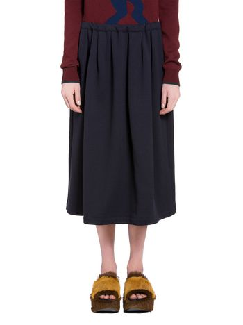 Marni Skirt in brown brushed jersey Woman
