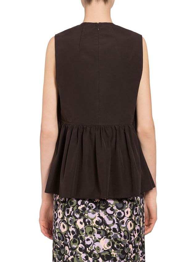 Marni Top in cotton poplin with ruches Woman