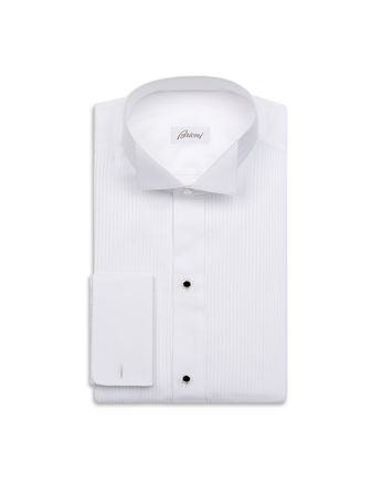 Evening White Shirt with Plastron