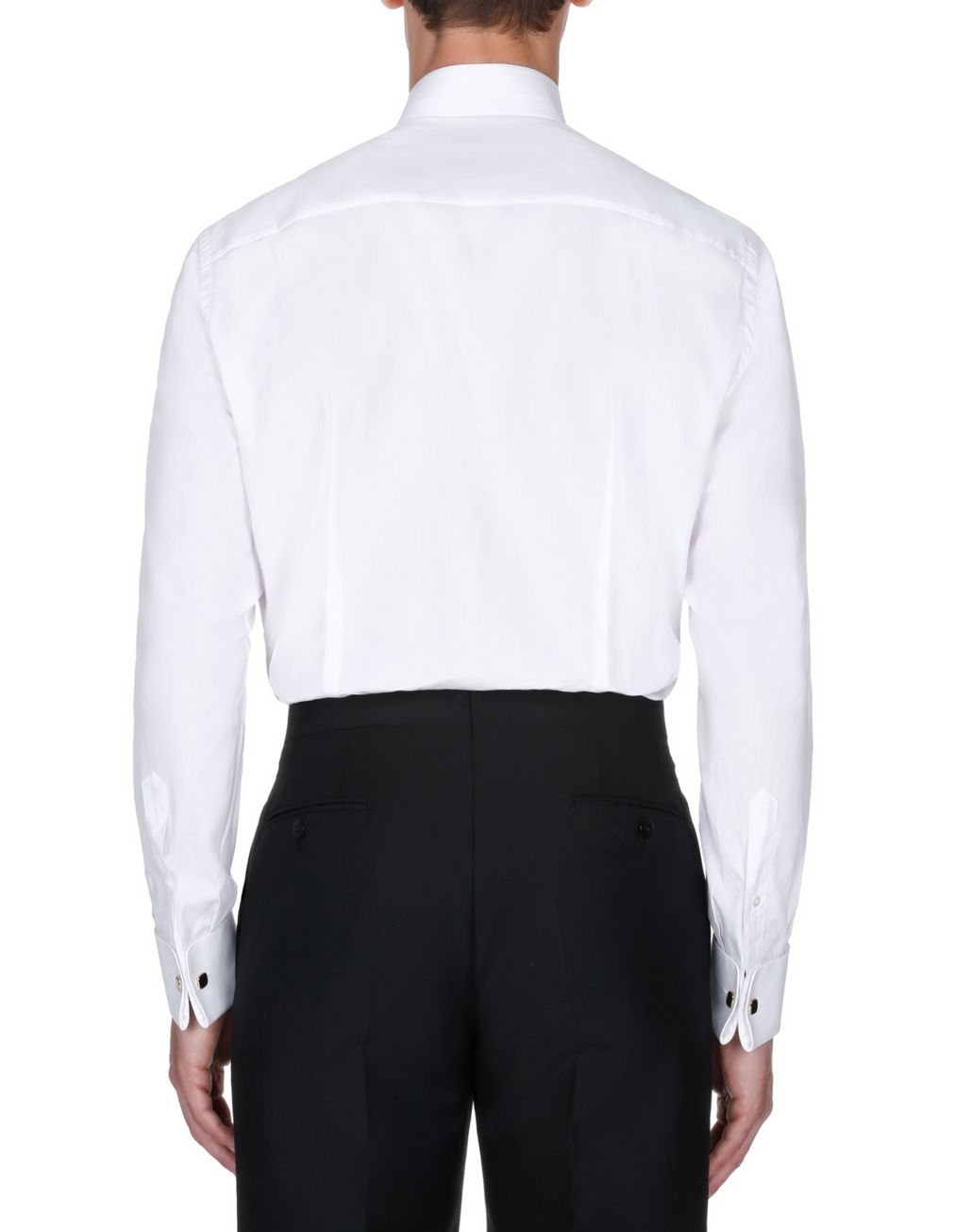 BRIONI Evening White Shirt with Plastron Formal shirt [*** pickupInStoreShippingNotGuaranteed_info ***] d