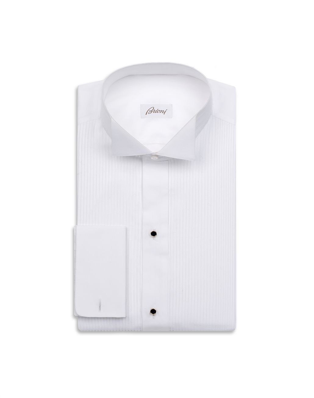 BRIONI Evening White Shirt with Plastron Formal shirt Man f