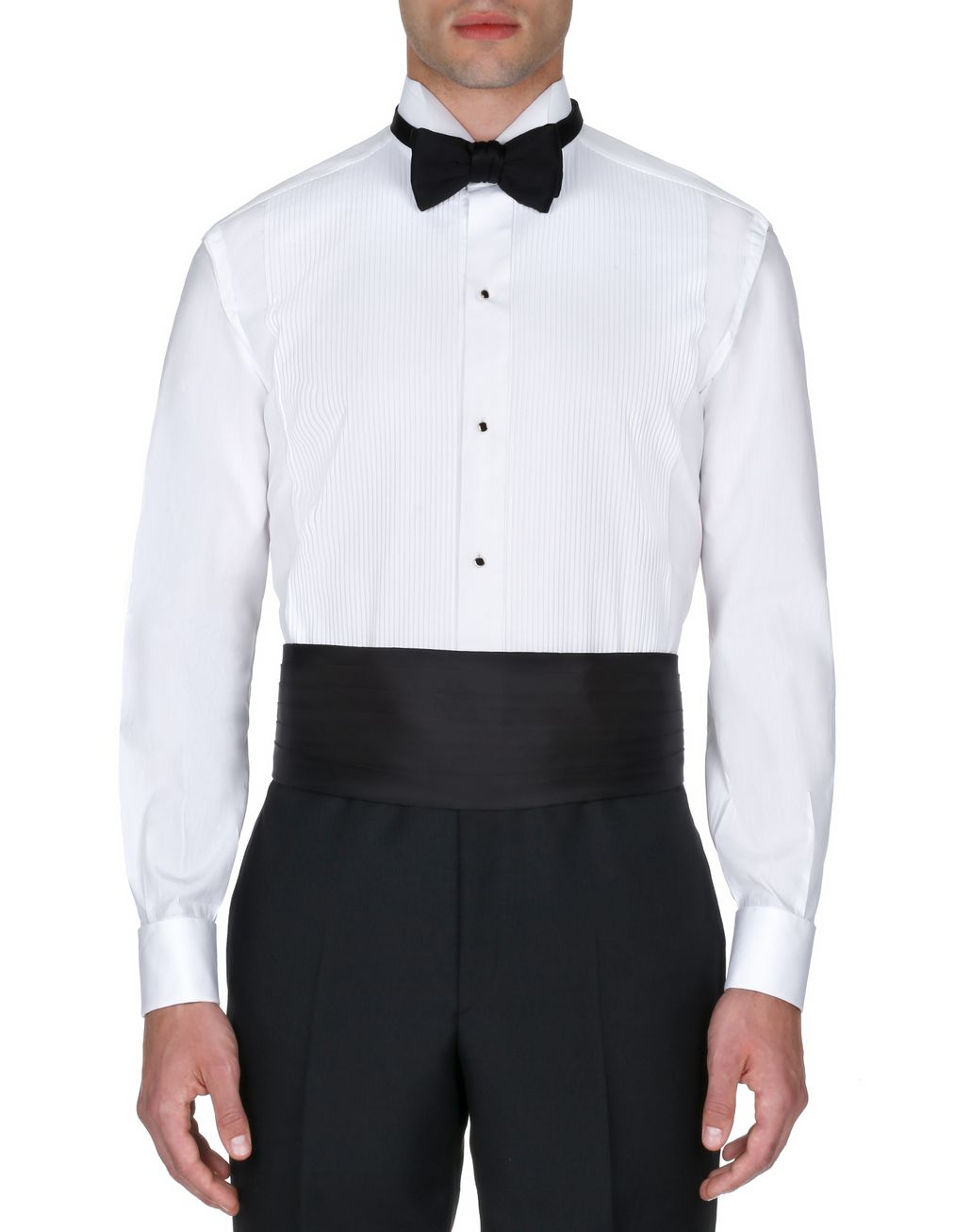 BRIONI Evening White Shirt with Plastron Formal shirt [*** pickupInStoreShippingNotGuaranteed_info ***] r