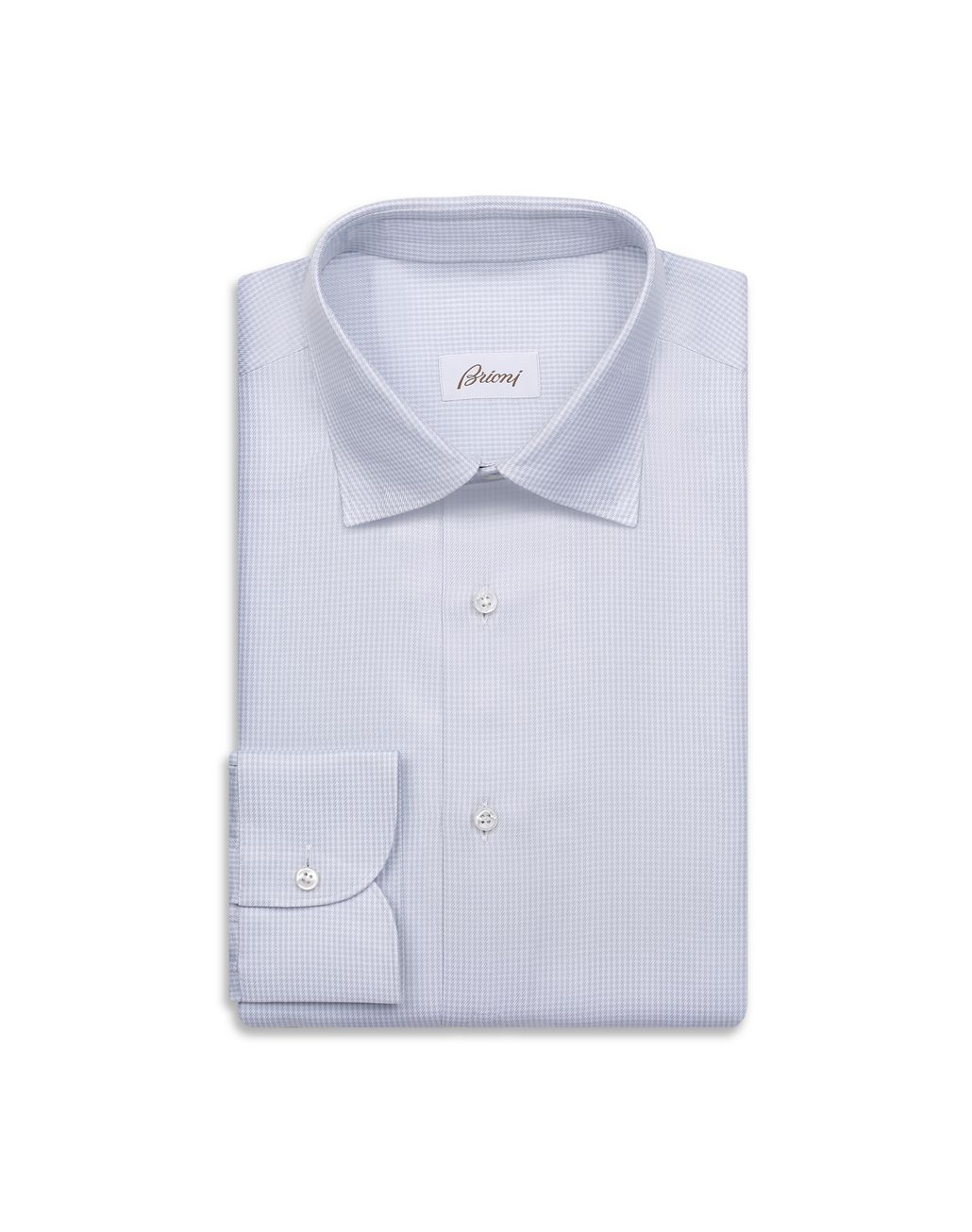BRIONI White and Lead Gingham Formal Shirt Formal shirt Man f