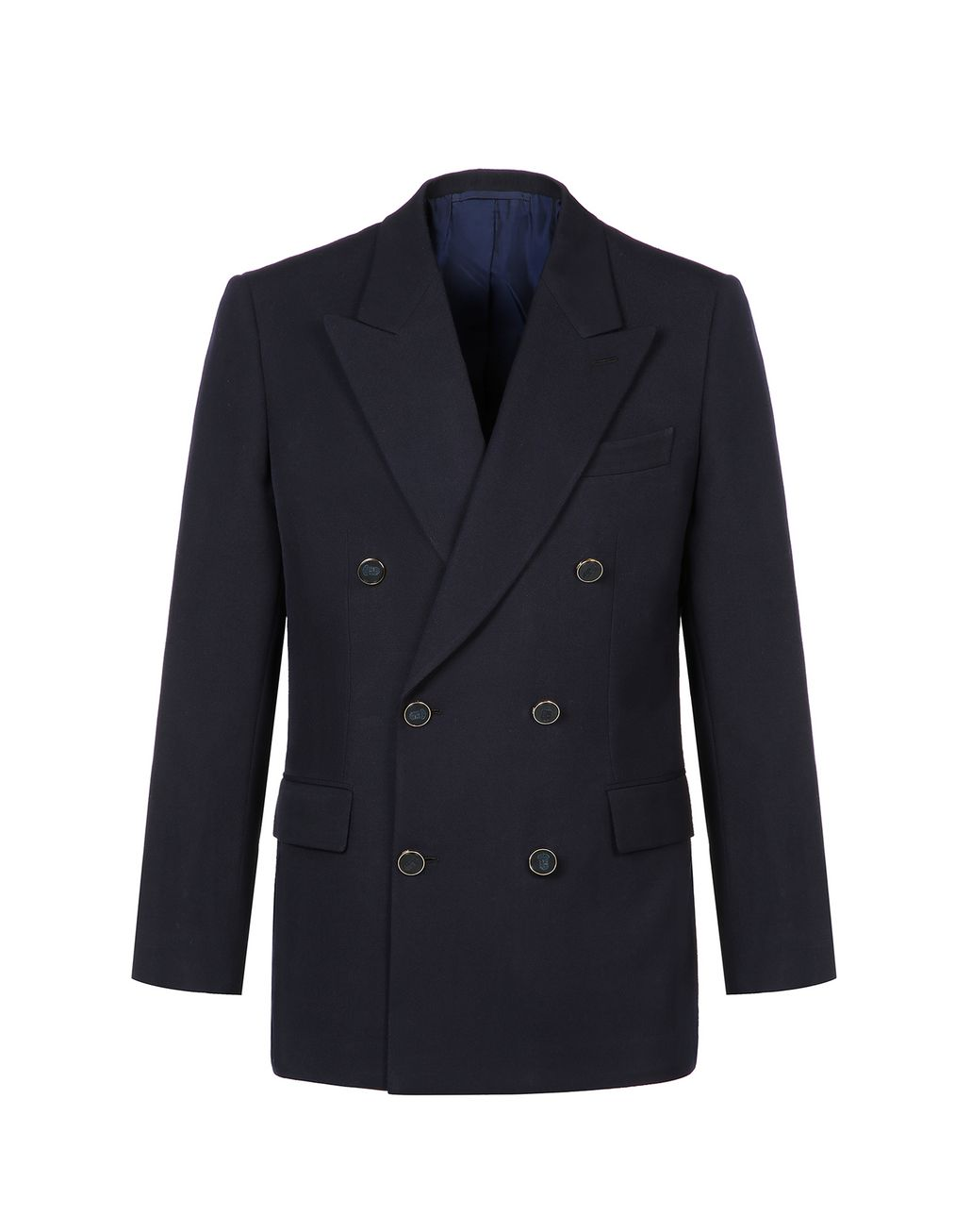 BRIONI Navy Blue Parioli Double Breasted Jacket Jackets [*** pickupInStoreShippingNotGuaranteed_info ***] f