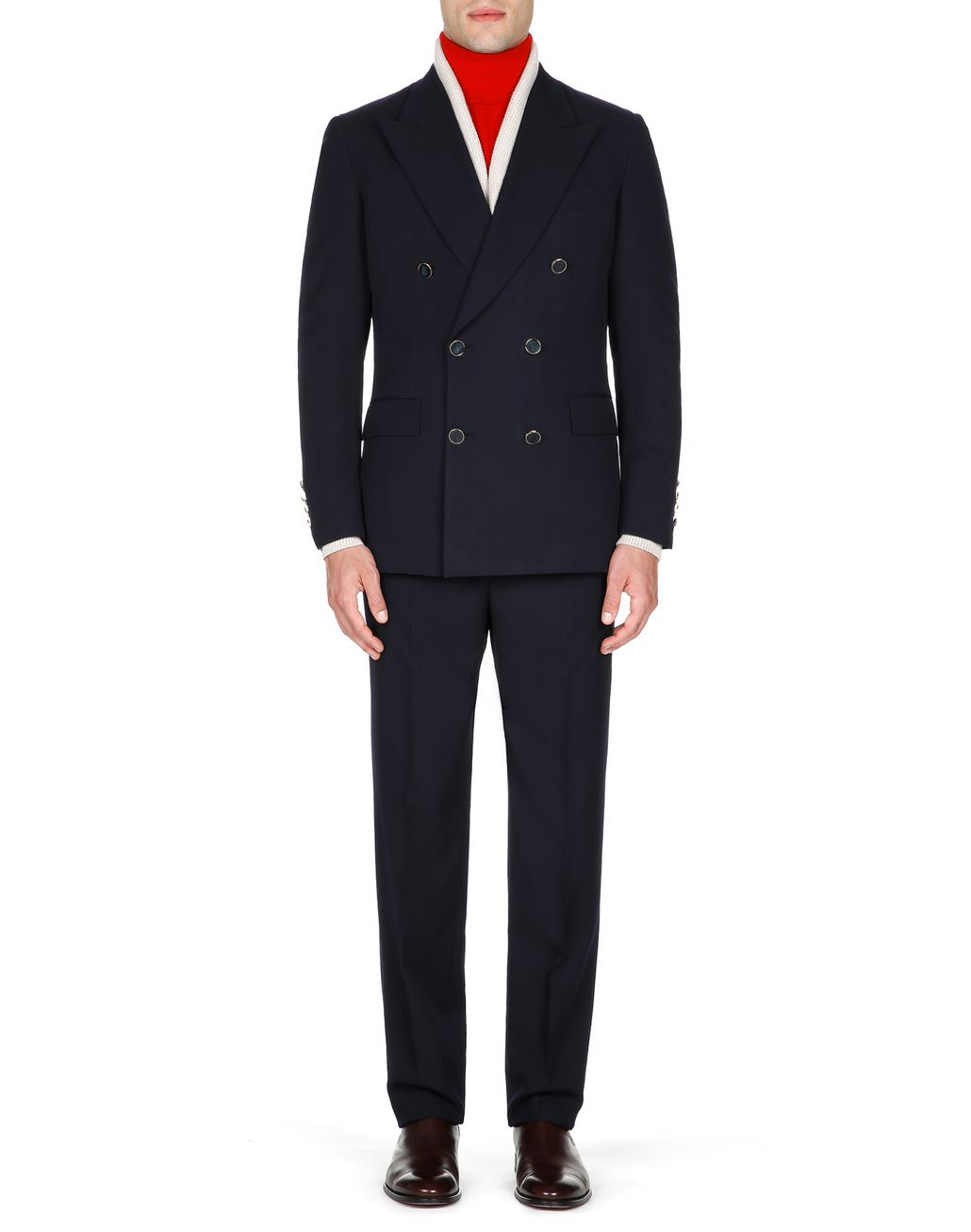 BRIONI Navy Blue Parioli Double Breasted Jacket Jackets Man r