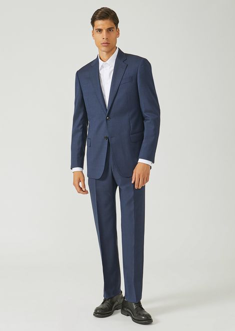 148ee03d1495 Costume coupe classique en pure laine vierge avec veste droite