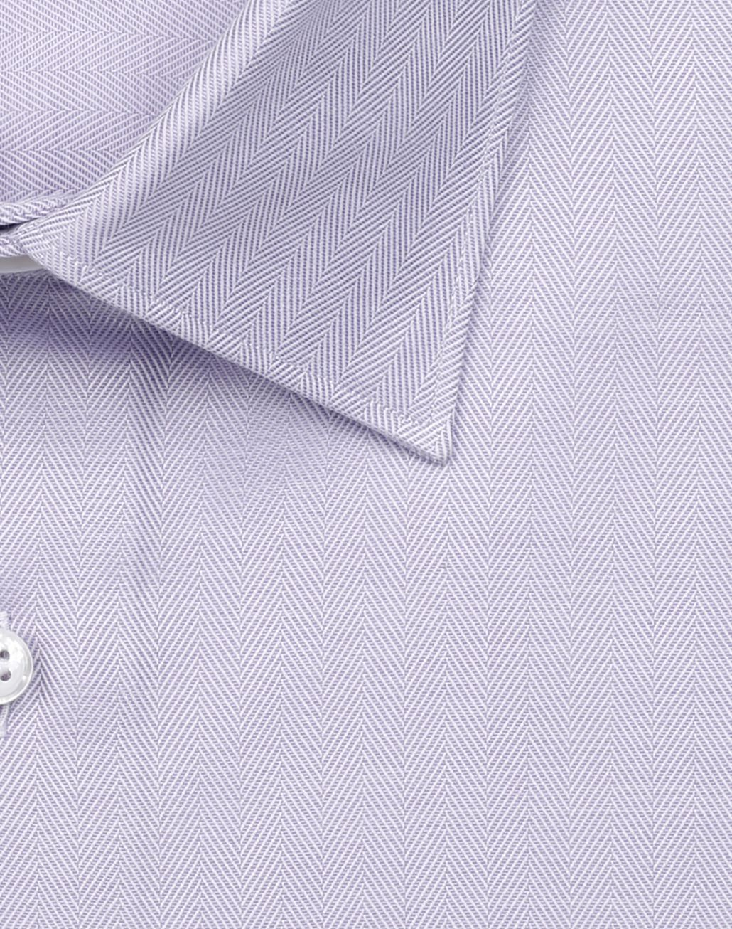 BRIONI White and Mauve Herringbone Shirt Formal shirt Man e