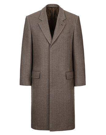 Brown Herringbone Priverno Coat