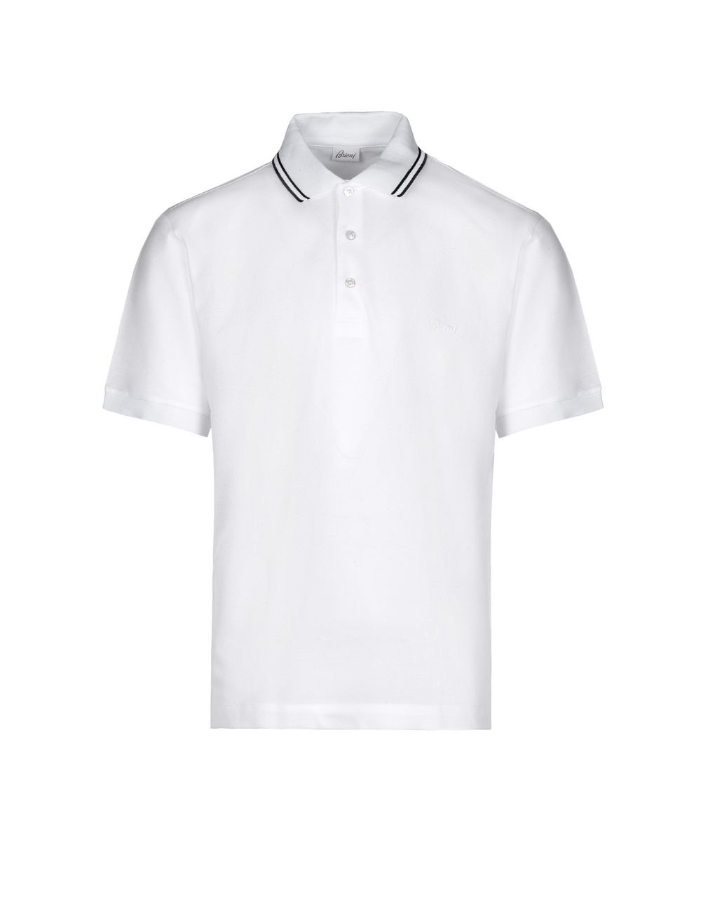BRIONI Polo Bianca in Piquet con Logo T-Shirt & Polo [*** pickupInStoreShippingNotGuaranteed_info ***] f