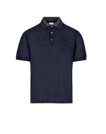 Тёмно-синяя поло с карманом