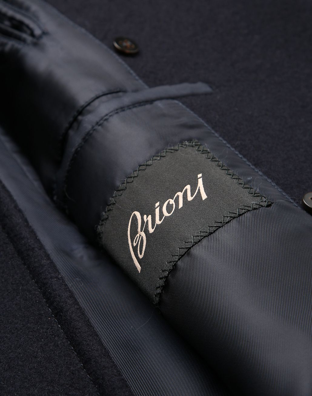 BRIONI Navy Blue Double Breasted Coat Coats & Raincoats [*** pickupInStoreShippingNotGuaranteed_info ***] b