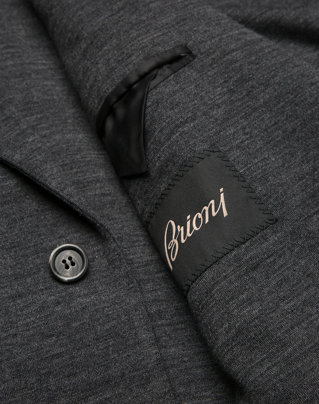 BRIONI Antrachite Gray Jersey Jacket Jackets [*** pickupInStoreShippingNotGuaranteed_info ***] b