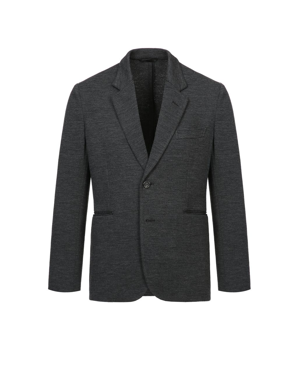 BRIONI Antrachite Gray Jersey Jacket Jackets Man f