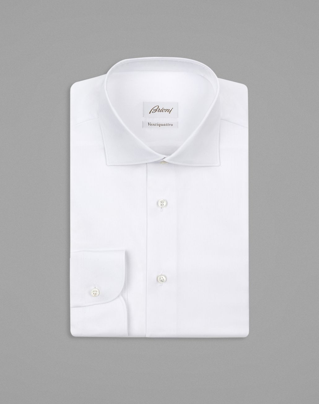 BRIONI White Twill Formal Shirt Formal shirt [*** pickupInStoreShippingNotGuaranteed_info ***] f