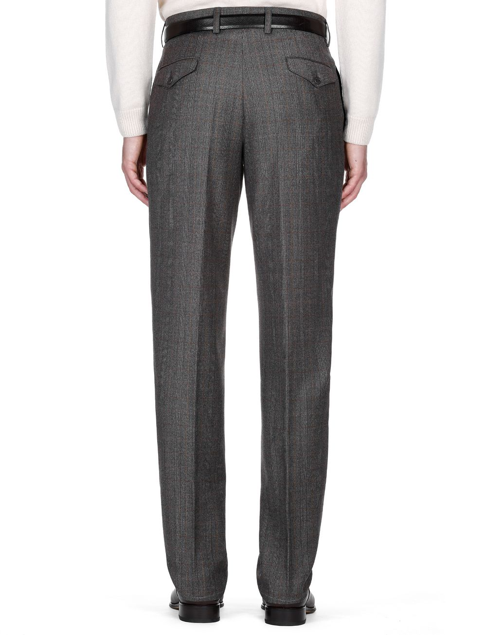 BRIONI Brown Plaid Pants Trousers Man d