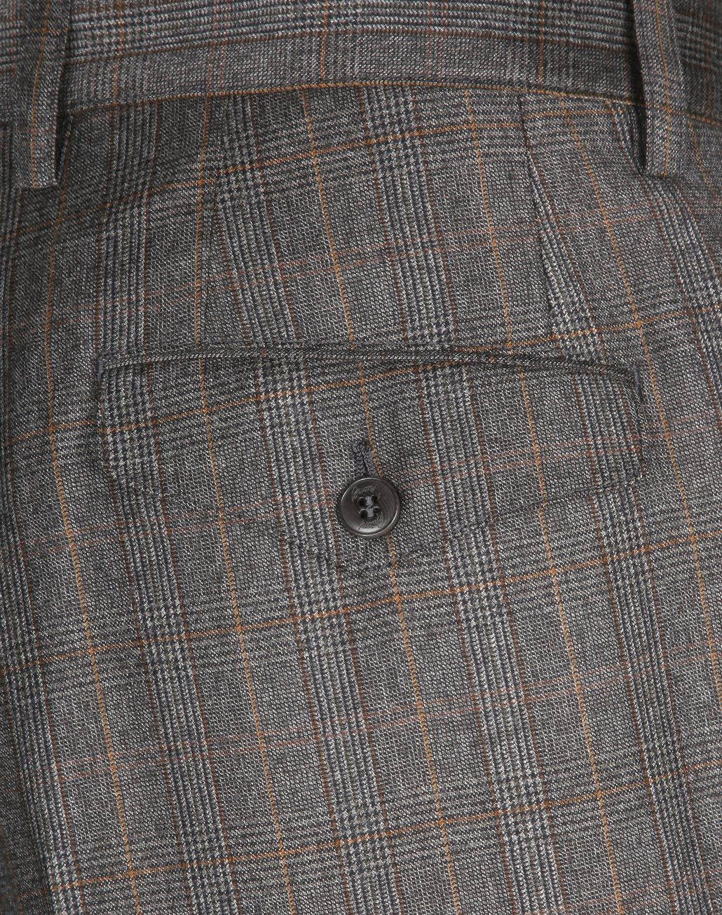 BRIONI Brown Checked Trousers Trousers Man e