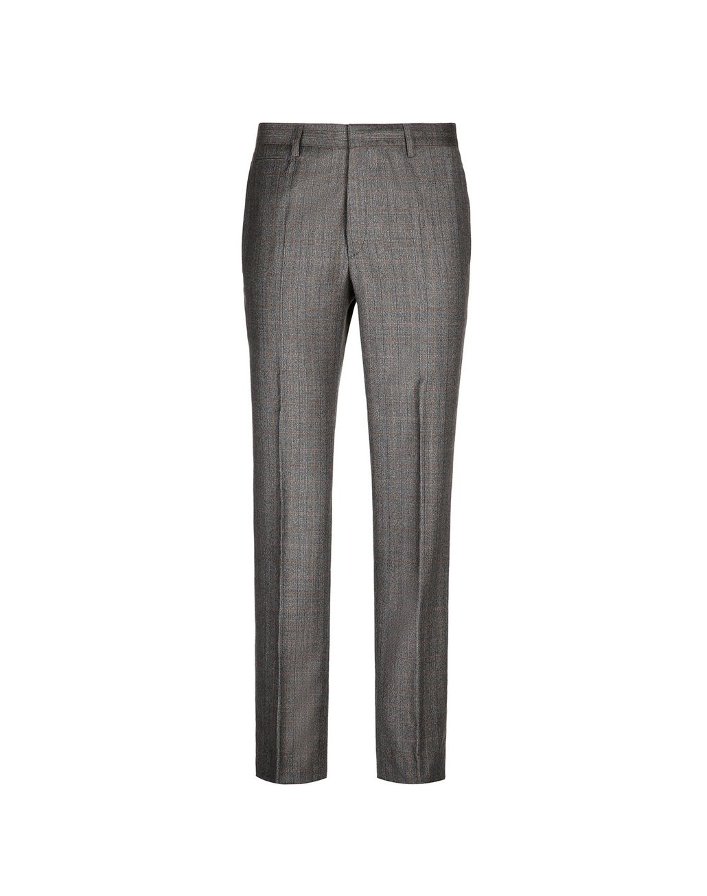 BRIONI Brown Checked Trousers Trousers Man f