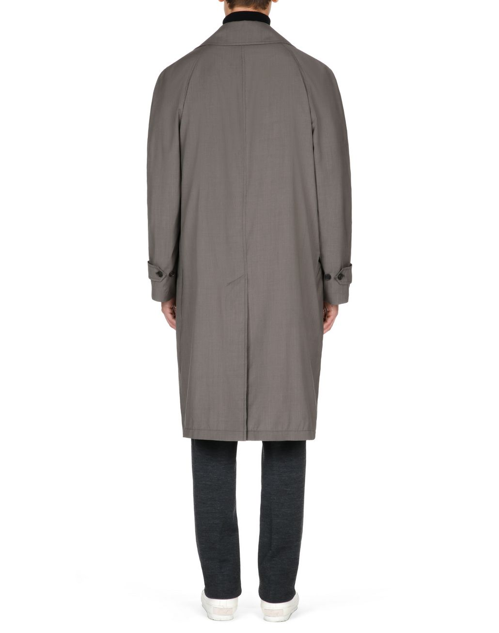 BRIONI Trench imperméable en laine et soie marron Manteau [*** pickupInStoreShippingNotGuaranteed_info ***] d