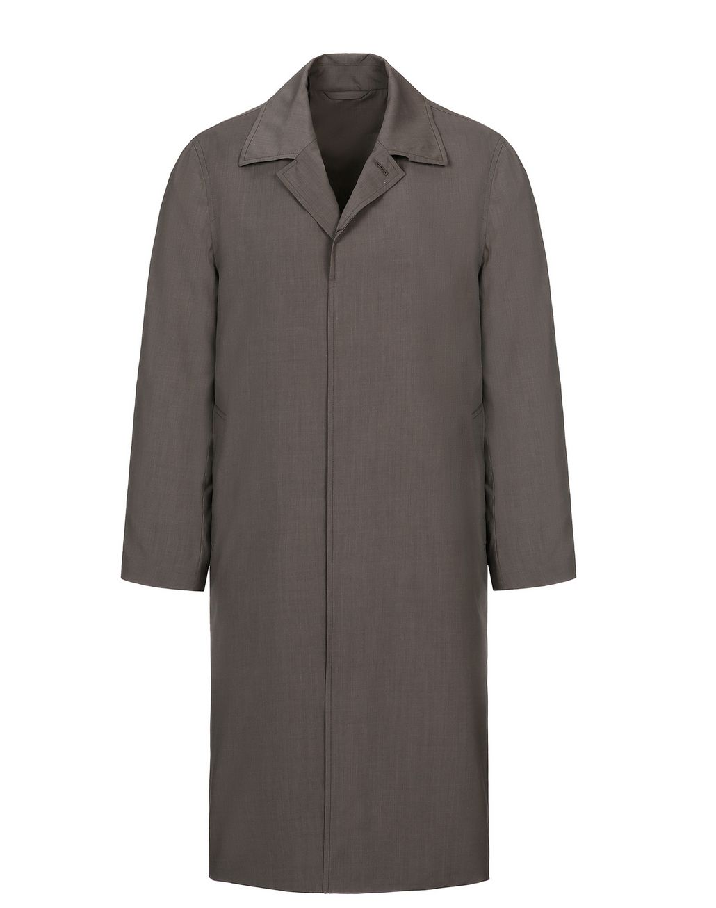 BRIONI Trench imperméable en laine et soie marron Manteau [*** pickupInStoreShippingNotGuaranteed_info ***] f