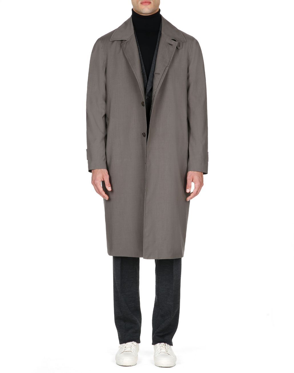 BRIONI Trench imperméable en laine et soie marron Manteau [*** pickupInStoreShippingNotGuaranteed_info ***] r