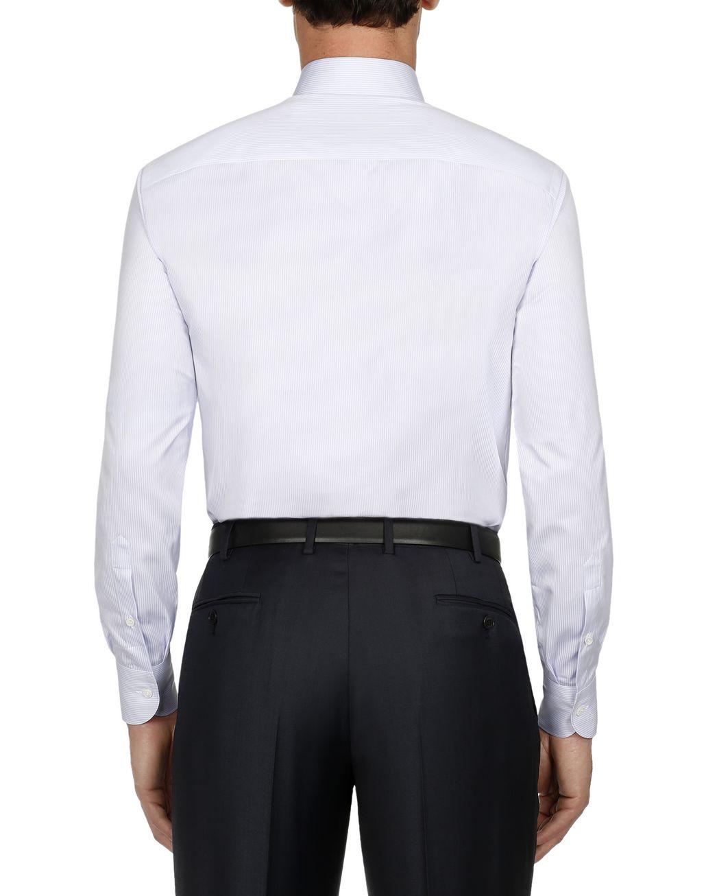 BRIONI White and Liliac Striped Shirt Formal shirt Man d