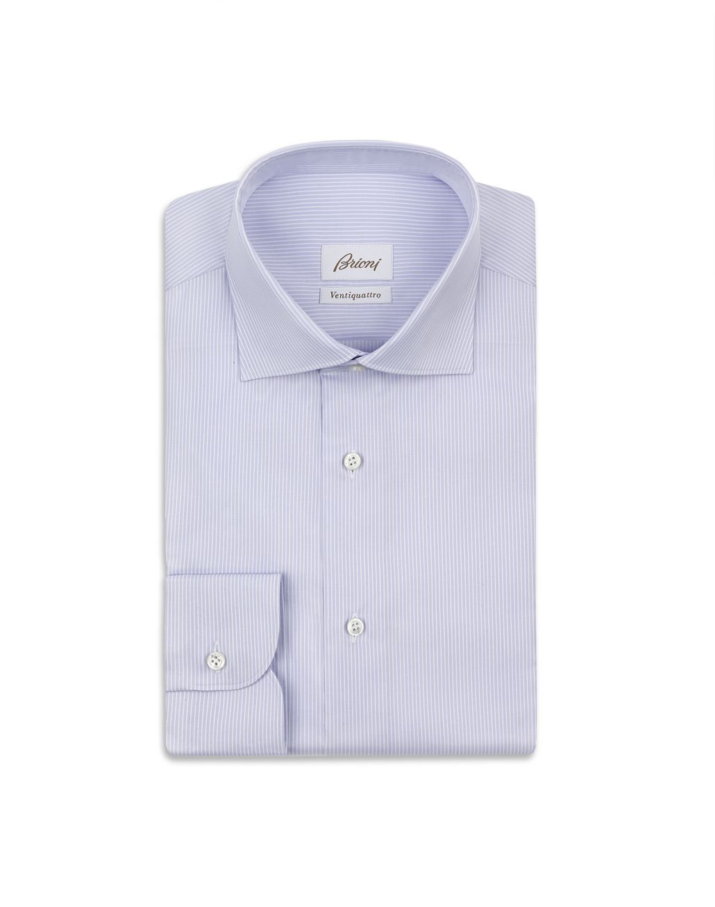 BRIONI White and Lilac Striped Shirt Formal shirt Man f
