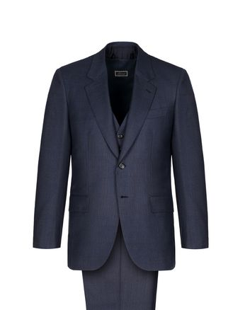 Navy Blue Mismatched Parioli Suit