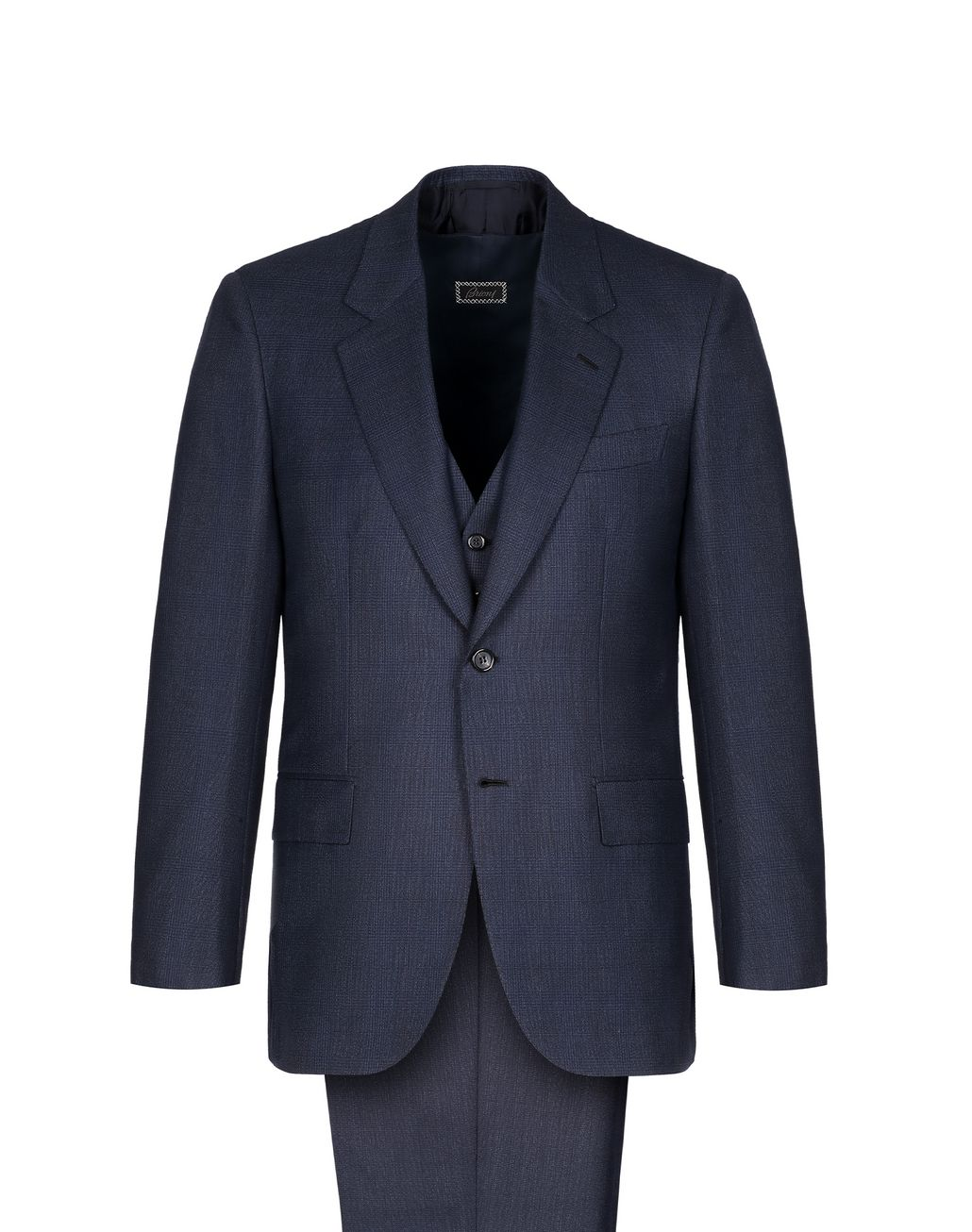 BRIONI Navy Blue Mismatched Parioli Suit  Suits & Jackets Man f