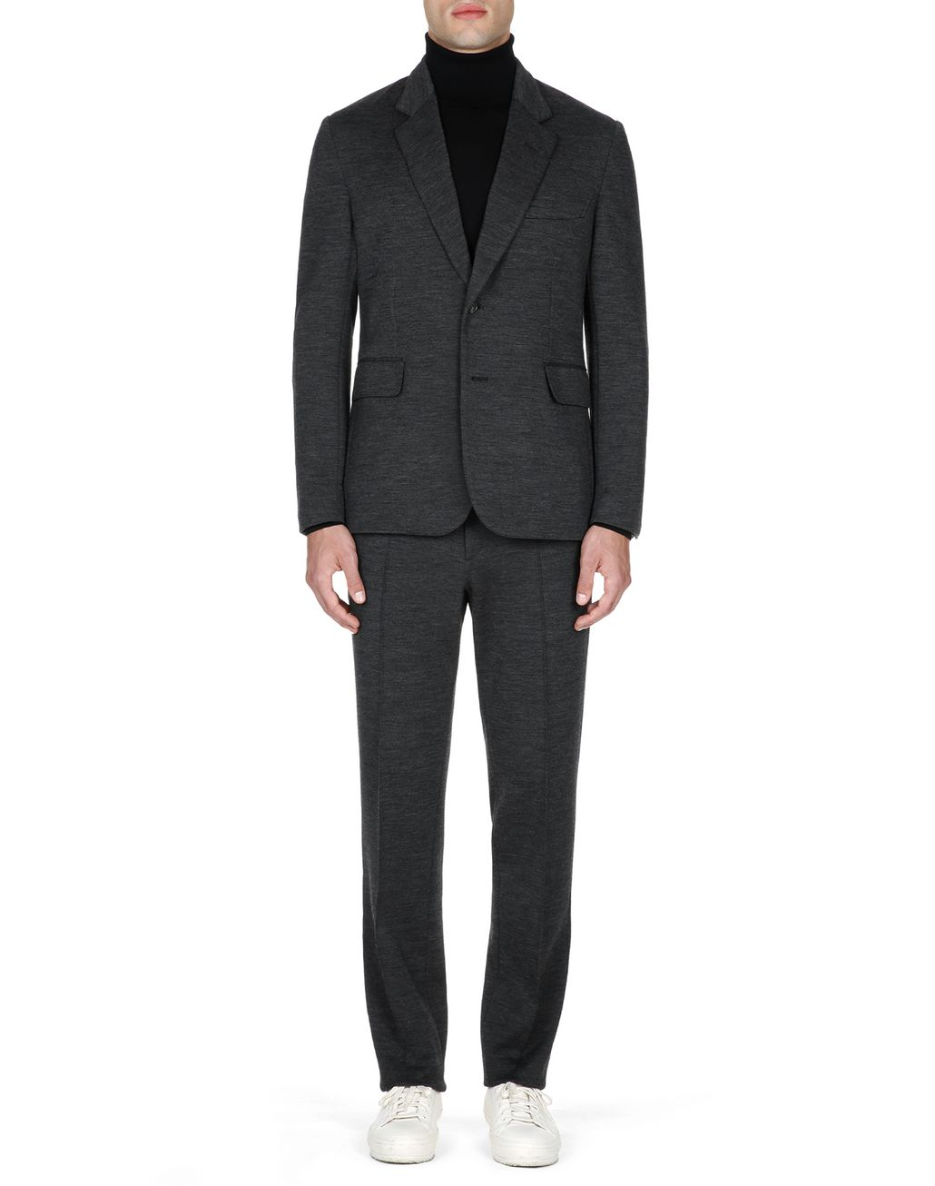 BRIONI Antrachite Gray Jersey Pants Trousers Man d