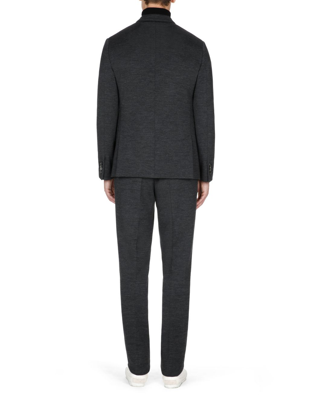BRIONI Antrachite Grey Jersey Trousers Trousers Man e