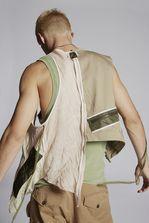 DSQUARED2 Crazy Mix Military Vest Waistcoat Man