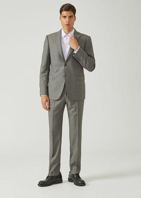 Costume coupe moderne en pure laine vierge avec veste droite a4613b9fddd